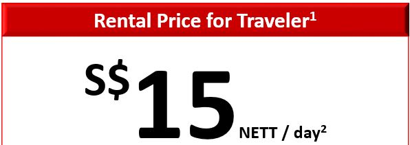 Rental Price for travelers